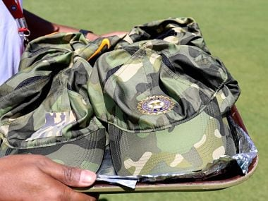 Indian cricket team wear camouflage caps in third ODI to show respect and solidarity with Pulwama attack victims