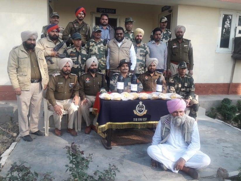 BSF makes a drug bust in Punjab's Ferozepur. Border Security Force.