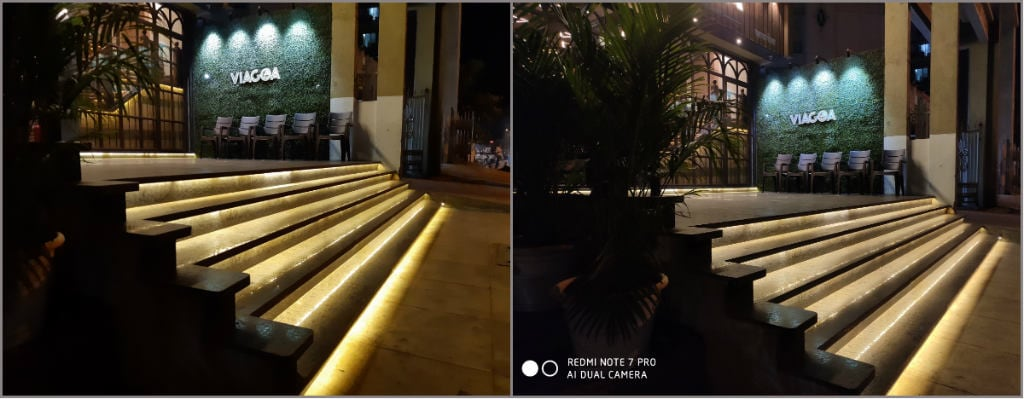 Galaxy A30 and Redmi Note 7 Pro night camera samples.