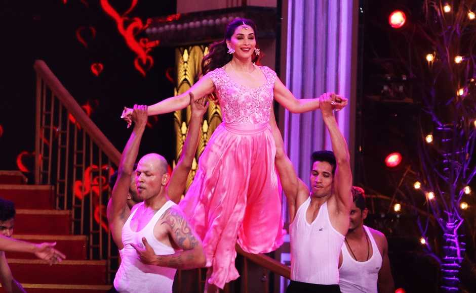 Madhuri Dixit Nene dances on songs from her films. Firstpost/Sachin Gokhale