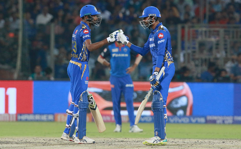 Pandya brothers, Rahul Chahar guide Mumbai Indians to solid victory over Delhi Capitals at Kotla
