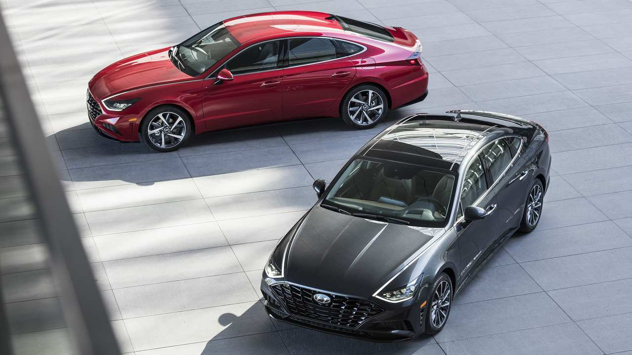 The new-generation Sonata is the first sedan designed with Hyundai's new Sensuous Sportiness design language. It is a fully transformed vehicle showcasing a sporty four-door-coupe look.