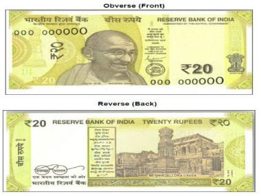 RBI to release new greenish-yellow Rs 20 bank notes; earlier currency will continue to be legal tender