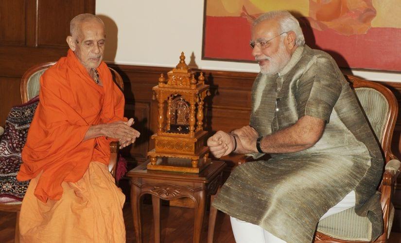 Prime Minister Narendra Modi with Teertha. Image courtesy: PIB