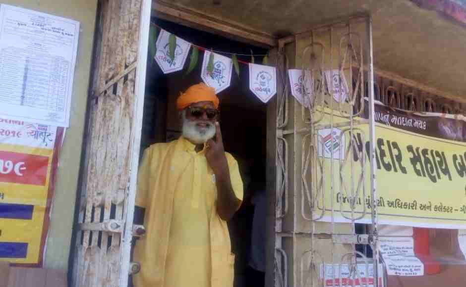 A special booth has been made in Banej, Gir Forest in Una Lok Sabha constituency for Mahant Bharatdas Goswami, where he is the only voter. Around Rs 25,000 is spent in securing this vote. Amit Cowper/101Reporters