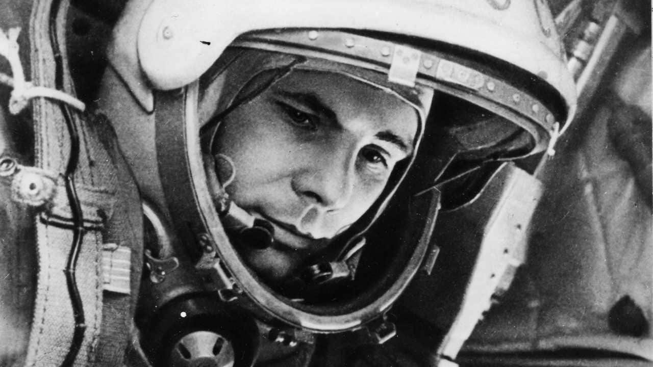 A photo of Yuri Gagarin ahead of his epic first journey to Earth's orbit in 1961. Image credit: ESA