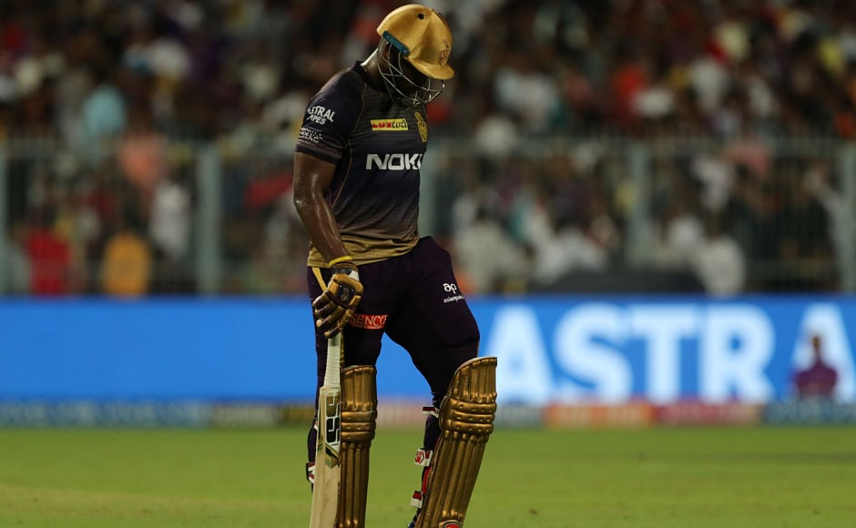 Andre Ruseell has been in an outstanding form with the bat but he couldn't make much of an impact on Thursday. He was dismissed for mere 14 runs as KKR made 175/6 in 20 overs. Sportzpics