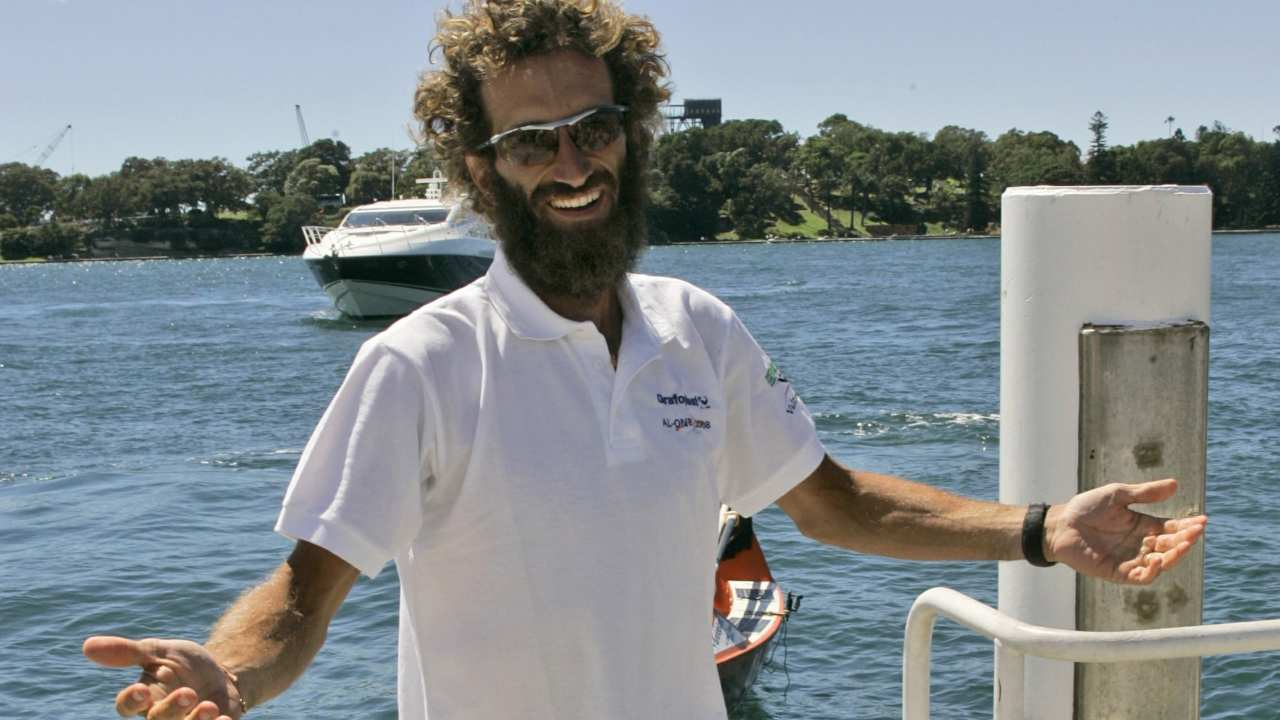 Alex Bellini, Italian explorer Alex Bellini plans to travel down the world's 10 most polluted rivers on make-shift rafts, tracing the routes of plastics that pollute the world's oceans. Image: AP