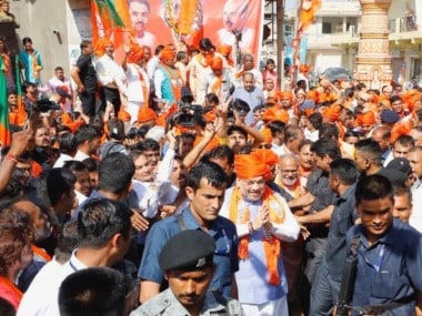 Amit Shah in Gujarat; Lok Sabha Election 2019 LIVE updates: Amid Article 370 row, BJP chief asks crowd to chant 'entire Kashmir is ours'