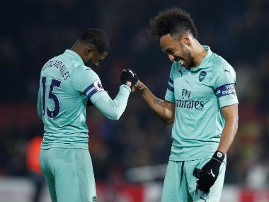 Premier League: Arsenal clinch narrow win over 10-man Watford thanks to Pierre-Emerick Aubameyangs early opener
