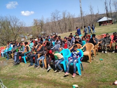 The BJP rally in Rafiabad was attended by just 78 people. Image: Sameer Yasir