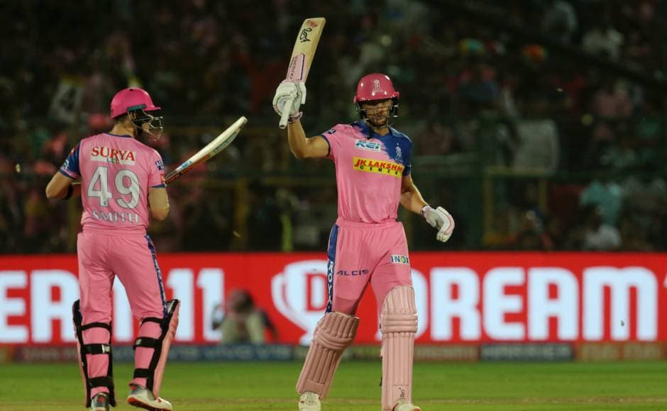 Jos Buttler slammed 59 off 43 and Rahul Tripathi scored 34 off 23 as RR finally crossed the winning line in IPL 2019. Sportzpics