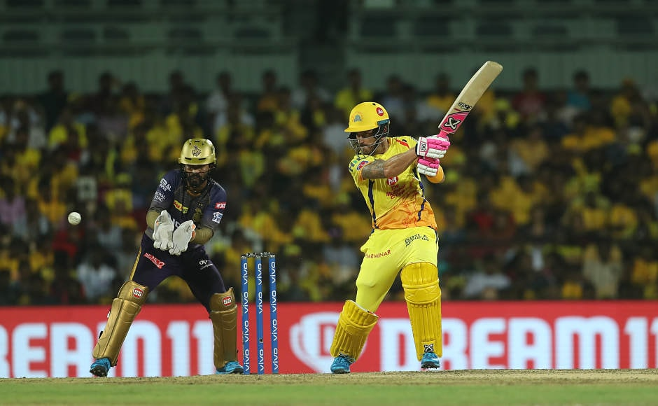 Faf du Plessis played the anchor role for CSK in Tuesday night's clash against KKR on a slow Chepauk surface, contributing with important 43 runs made off 45 balls. His knock was of high importance as other batsmen got out trying toscore quickly on the slow pitch. Faf came, took his time and made sure he was there till the target of 109 runs was achieved. Sportzpics