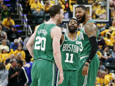 NBA Playoffs 2019: Celtics complete first-round sweep of Pacers; Raptors, Warriors secure victories to go 3-1 up