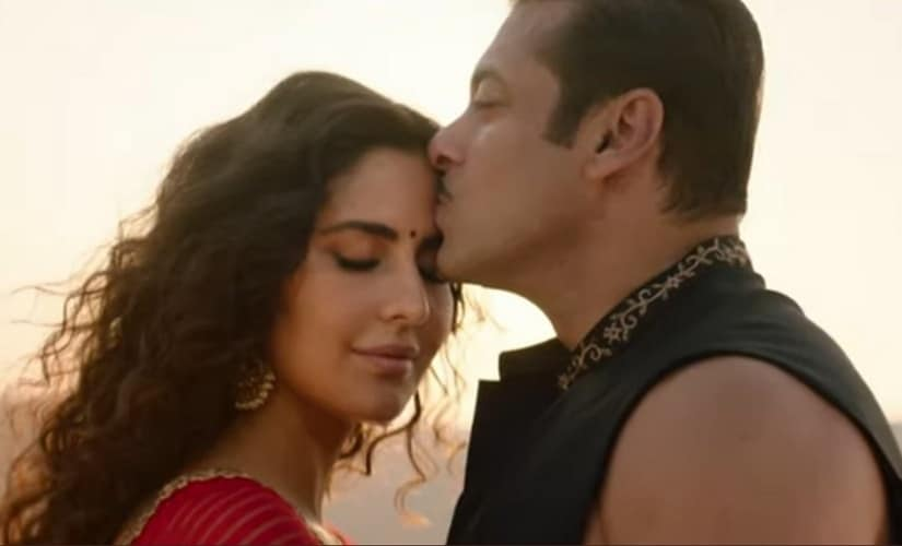 Salman Khan and Katrina Kaif in a still from Chashni. Source: Twitter
