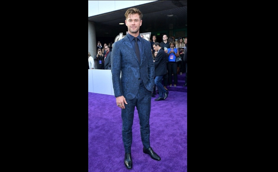 Chris Hemsworth aka Thor serving the cool look at the Marvel event. Source: Twitter
