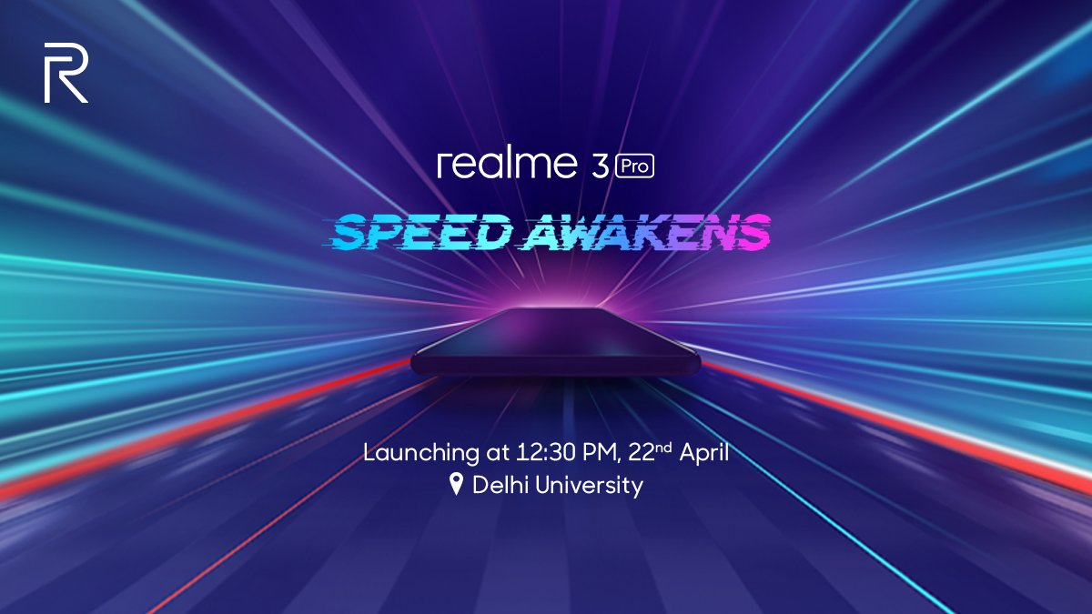 Realme 3 Pro confirmed to be announced on 22 April at Delhi University