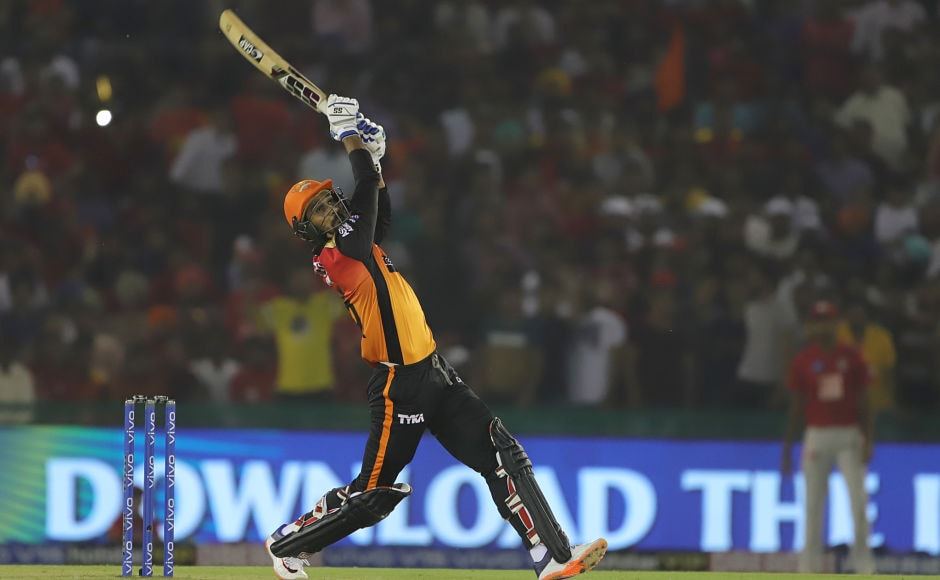 Deepak Hooda faced just three ball in the final over, but he smashed 14 runs with two fours and six off the last ball of the innings. His cameo with the bat helped Sunrisers post 150/4 in 20 overs. Sportzpics