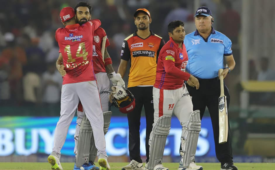 KL Rahul's third half-century in four matches ensures Kings XI Punjab maintain perfect home record this season as they beat Sunrisers Hyderabad by six wickets in an Indian Premier League match. Sportzpics