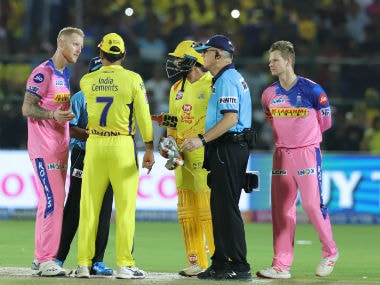 MS Dhoni stormed the field of play and engaged in an argument with on-field umpires on Thursday. Sportzpics