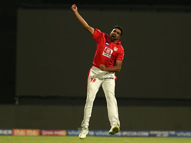 Ravichandran Ashwin of Kings XI Punjab celebrates the wicket of Moeen Ali. Sportzpics