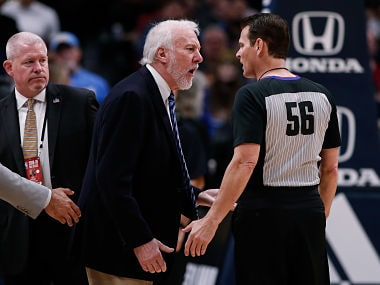 NBA: Spurs coach Gregg Popovich ejected 63 seconds into teams loss to Nuggets; Gordon Hayward leads Celtics to win