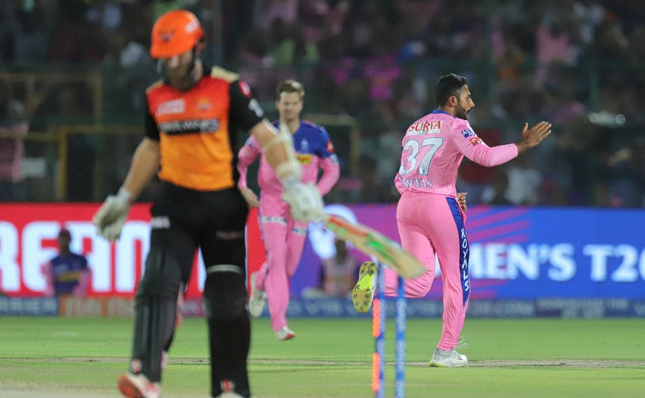 Shreyas Gopal was in his elements against against SRH as he picked 2 for 30 in his spell of 4 overs. He took key wicket of Kane Williamson, removing him with a perfect googly and then dismissed well-set batsman Manish Pandey. Sportzpics