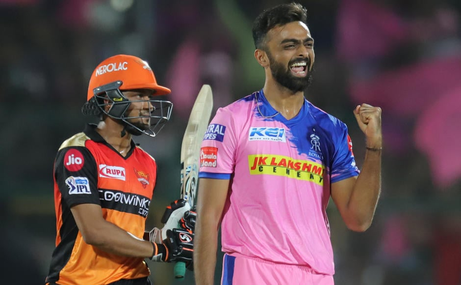 Jaydev Unadkat was the pick of the bowlers for Rajasthan Royals as he bowled with a lot of heart and picked 2 for 26 in his quota of 4 overs. This, by far, was his his best performance in the current season. He was also adjudged the Man of the Match. Sportzpics