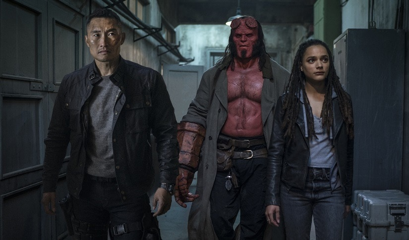 (From L-R) Daniel Dae Kim, Harbour and Sasha Lane in a still from the film. Image via Twitter