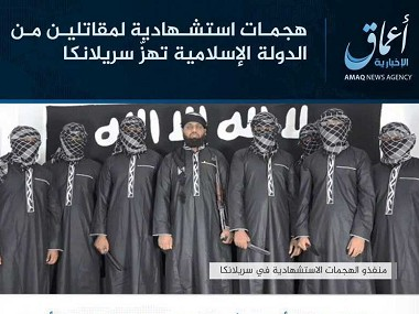Islamic State releases photos of eight attackers involved in Sri Lanka blasts, but names only seven of them