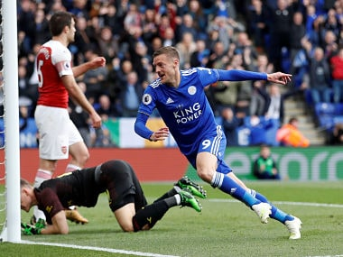 Premier League: Jamie Vardy nets brace as Leicester City deal hammer blow to Arsenals top-four hopes