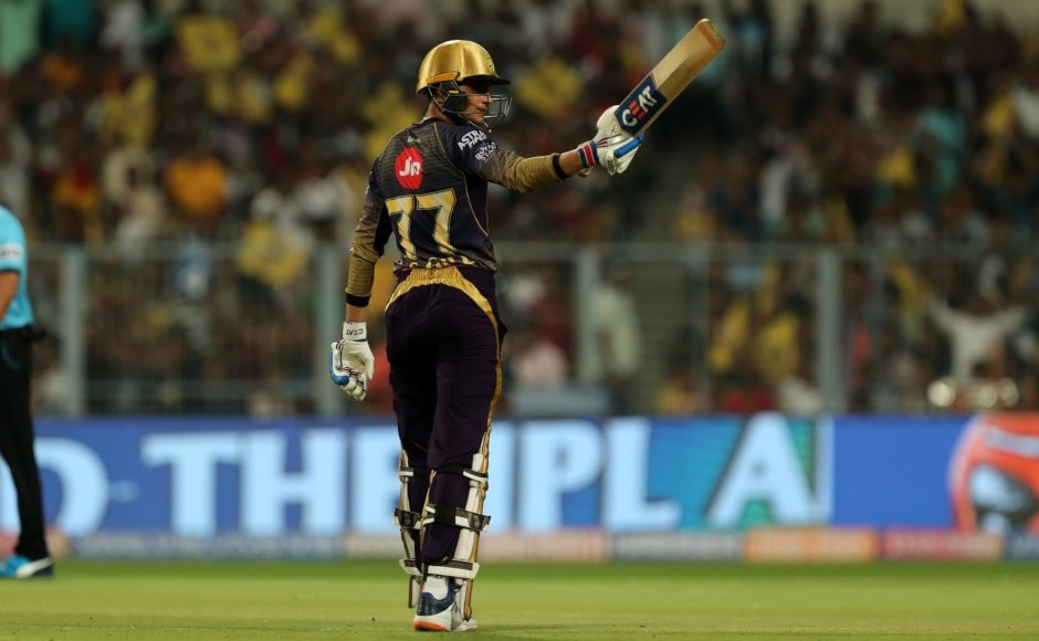 Shubman Gill relished his opportunity as an opener, stroking some wonderful strokes in his second IPL fifty, laying a strong foundation for KKR. Sportzpics