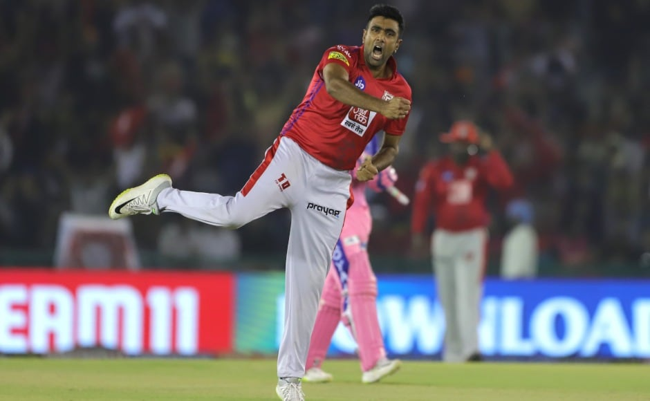 Ravichandran Ashwin first shone with the bat, belting 17 runs off four balls to lift KXIP's score to 182, and then the captain embellished his performance by claiming two crucial scalps with the ball. Sportzpics