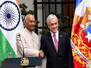 Ram Nath Kovind in Chile: President holds bilateral talks with counterpart Sebastian Pinera, inks MoUs in mining, culture, disability