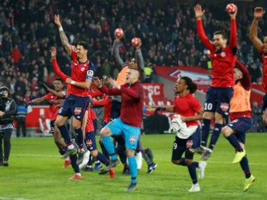 Ligue 1: Leaders PSG miss chance to seal sixth league title for second week running after losing 1-5 to Lille