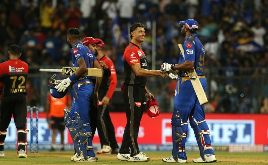 Mumbai Indians completed the double overRoyal Challengers Bangalorewith a five-wicket win inthe return fixture atWankhede. Sportzpics