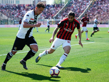 Serie A: Parma earn point against AC Milan with drab draw; 10-man Lazio's European hopes take hit after defeat to Chievo