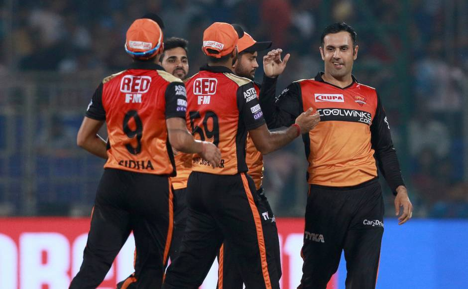 Mohammad Nabi starred with the ball once against for SRH as he removed Shikhar Dhawan and Rishabh Pant to derail DC's innings after they were put into bat. Sportzpics