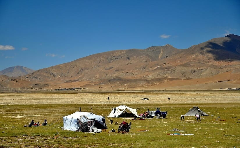 A nomadic settlement