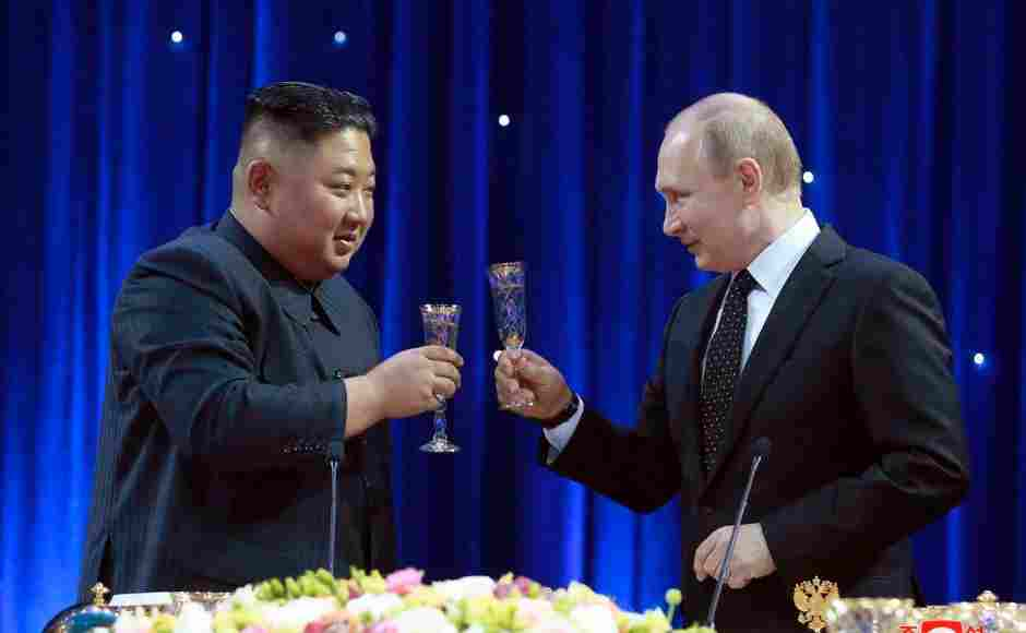 Russia's Vladimir Putin and North Korea's Kim Jong-un met face-to-face for the first time on Thursday, vowing to seek closer ties as they look to counter US influence. AP