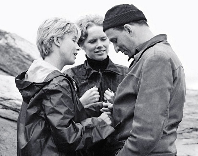 (From L-R) Bibi Andersson, Liv Ullman and Ingmar Bergman on the set of Persona