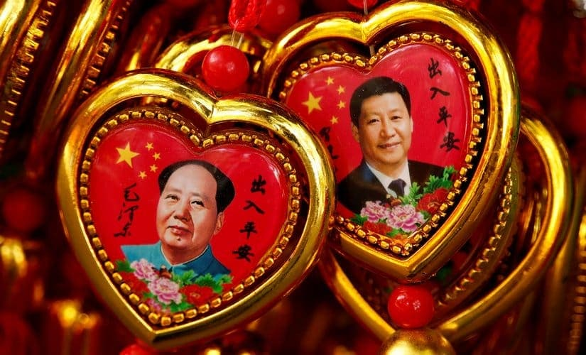 In establishing his control over the military, Xi Jinping has taken a leaf out of Mao Zedong's book. Souvenirs of Mao and Xi can be seen in a shop near the Forbidden City in Beijing. Reuters