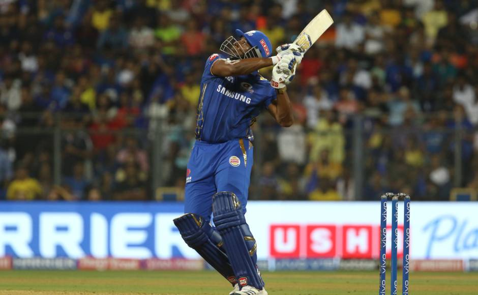 Kieron Pollard and Hardik Pandya went all guns blazing in the death overs and put up 45 together off 13 balls to lead MI to 170/5 in 20 overs. Sportzpics