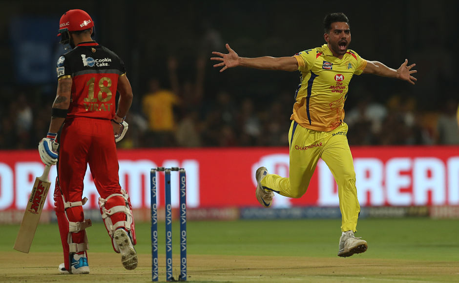 Deepak Chahar was off to a great start as he removed the dangerous Virat Kohli early on in the innings. Sportzpics