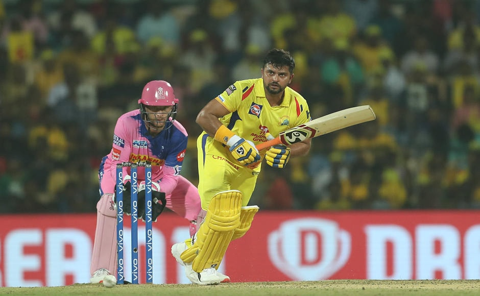 Chennai Super Kings lost both their openers cheaply, but Suresh Raina, the 'chinna thala' of the team, played a good knock of 36 and shared 61-run partnership with 'thala' MS Dhoni. Sportzpics