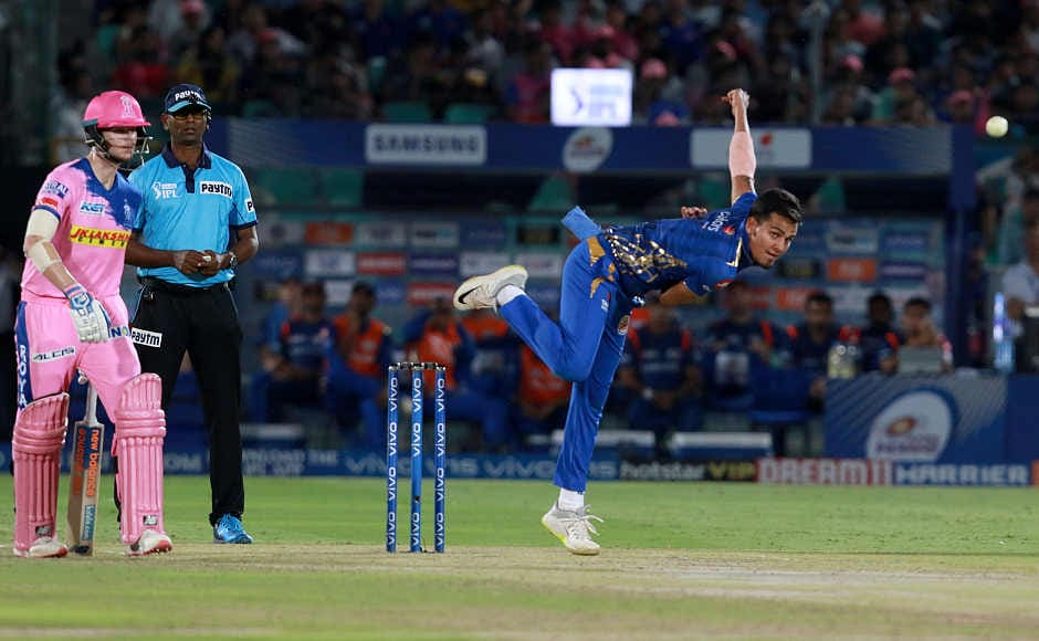 Rahul Chaharwas again excellent on Saturday night, picking up three wickets that ofAjinkya Rahane, Sanju Samson and Ben Stokes. He has been bowling really well in IPL 2019. Sportzpics