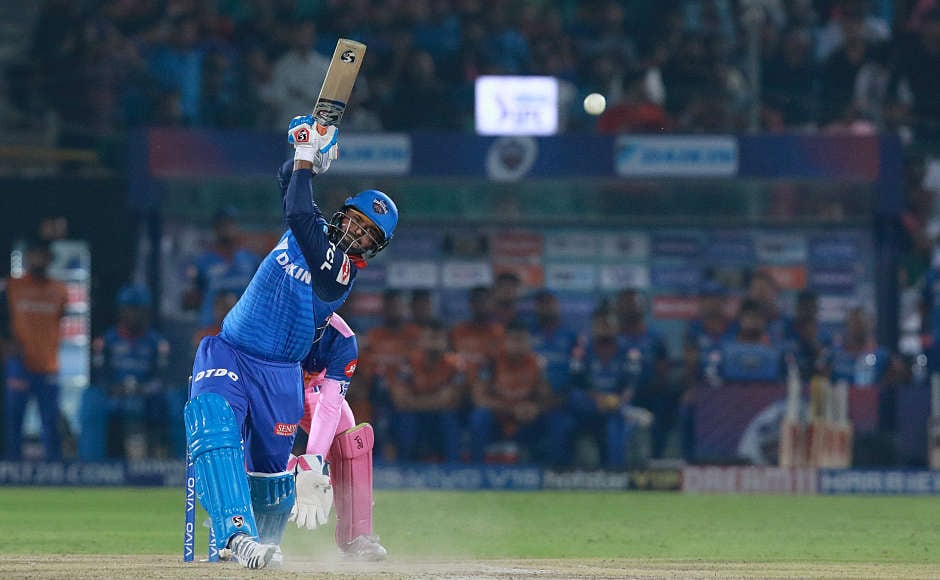 After Shikhar Dhawan and Prithvi Shaw departed, Rishabh Pant (78 0ff 36 balls) carried on with his blitzkrieg. In his match-winning innings, he smashed 6 fours and 4 sixes. The RR bowlers, at one stage, did not know where to bowl at Pant, who tookthe team home with six wickets in hand. Sportzpics