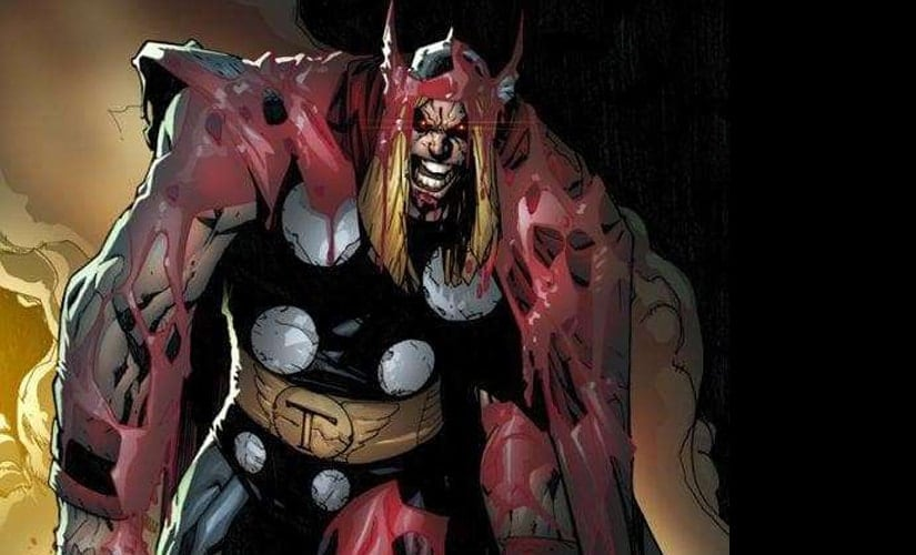 You know who else is a stereotype villain? Evil Clones. Pictured: Thor's evil cyborg clone 'Ragnarok' | Marvel Comics