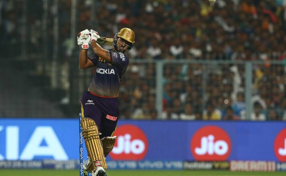 Nitish Rana made unbeaten 85 off 46 and put up 118-run partnership with Andre Russell to help KKR take the match into the final over. Sportzpics