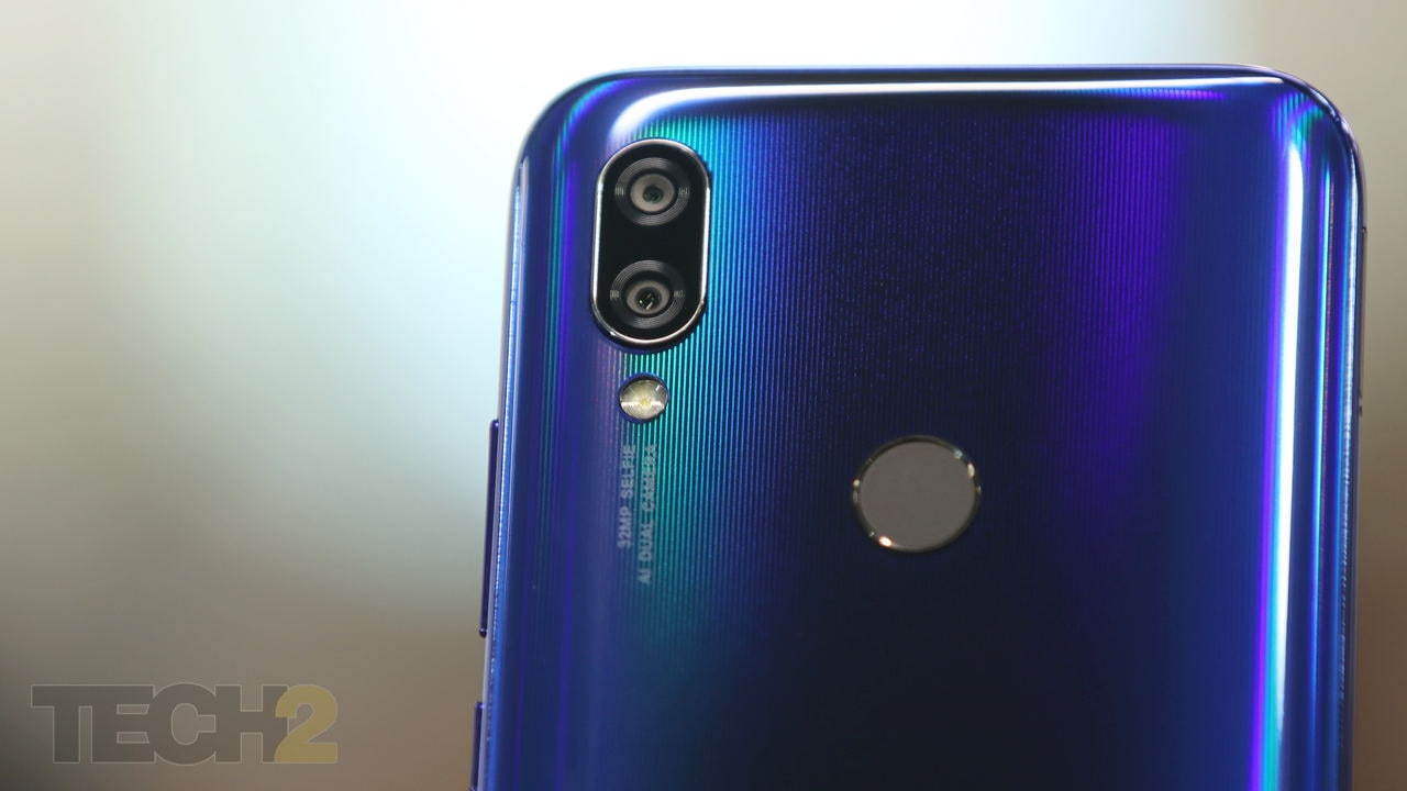 The rear camera setup on the Redmi Y3 is identical to that on the Redmi Note 7. Image: tech2/ Omkar P